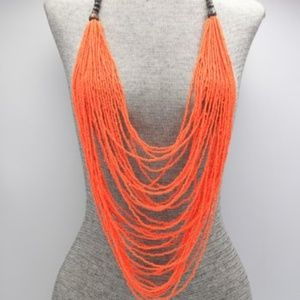 Jewelry - Long Seed Bead and Wood Necklace Set